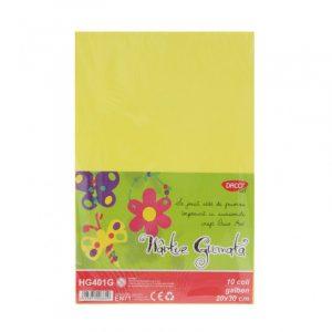 Hârtie gumată galbenă