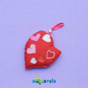 Pernă inimă roșu