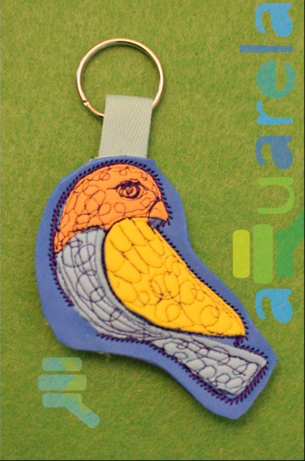 breloc colorat pasăre