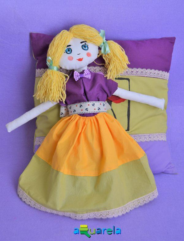 Păpușa de pânză Lilac Dolly